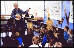 Folk Artists are often available for classroom visits.