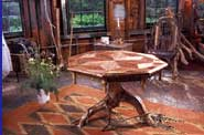 Adirondack traditional artforms include rustic furniture.